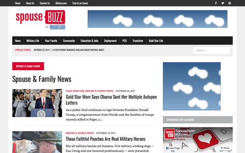 Screenshot of Press Page spousebuzz.com - Spouse & Family News | SpouseBuzz.com - captured Oct. 30, 2017