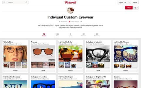 Screenshot of Pinterest Page pinterest.com - Indivijual Custom Eyewear on Pinterest - captured Nov. 3, 2014