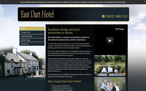 Screenshot of Home Page eastdarthotel.co.uk - Country breaks - Dartmoor | The East Dart Hotel - captured Oct. 25, 2018
