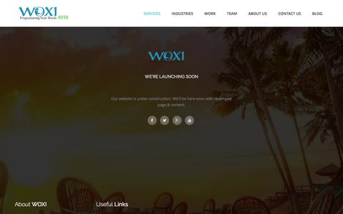 Screenshot of Services Page woxiprogrammers.com - Services | WOXI - captured Feb. 17, 2016