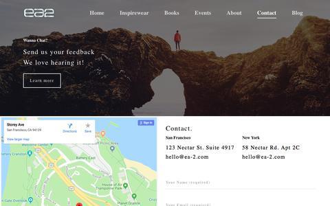 Screenshot of Contact Page ea-2.com - Contact – EA2 - captured Sept. 25, 2018