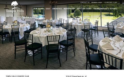 Screenshot of Testimonials Page clubcorp.com - Wedding Testimonials   Temple Hills   Franklin TN - captured Oct. 20, 2018