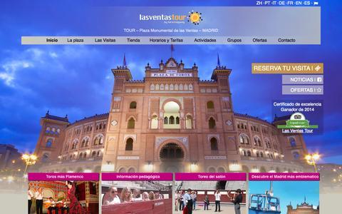 Screenshot of Home Page lasventastour.com - Visitas guiadas a la plaza de toros de Las Ventas, Madrid - captured Sept. 29, 2014