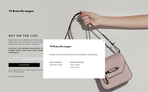 Mackage -  Newsletter Signup - EN-US