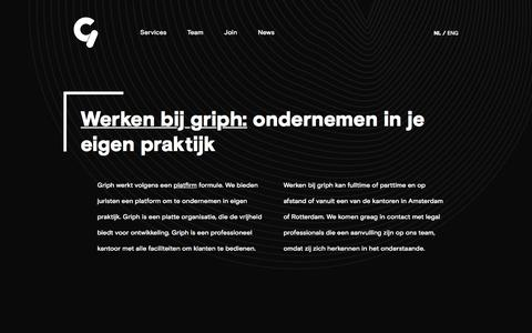 Screenshot of Signup Page griph.nl - griph - Join - griph - captured Nov. 6, 2016