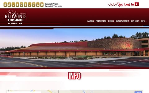 Screenshot of Maps & Directions Page redwindcasino.com - Directions | Nisqually Red Wind Casino - captured Jan. 30, 2016