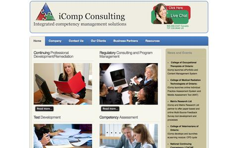 Screenshot of Home Page icompconsulting.com - iCompConsulting.com - captured Sept. 7, 2015