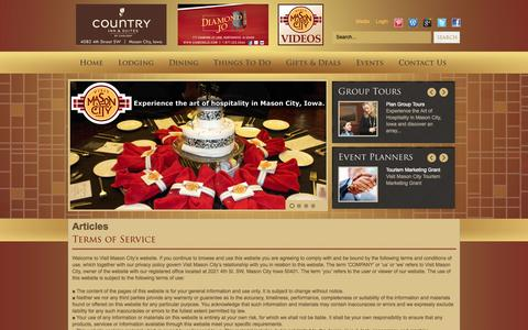 Screenshot of Terms Page visitmasoncityiowa.com - Joomla 2.5.8 - captured Nov. 5, 2014