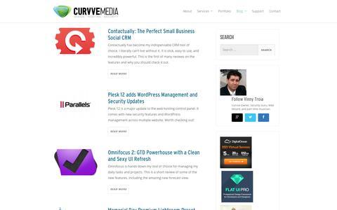 Screenshot of Blog curvve.com - Curvve Blog: Cloud Tutorials, Plesk & Server Guides, Reviews and more - captured Sept. 24, 2014