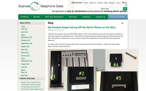 Screenshot of Blog businesstelephone.com - Blog -  Business Telephone Sales - captured June 23, 2017