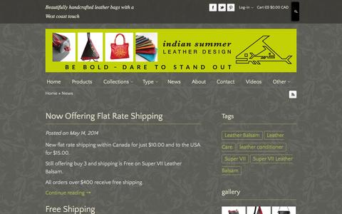 Screenshot of Press Page indiansummerleather.com - Women Leather Bags | Women's Leather Handbags - captured Oct. 30, 2014
