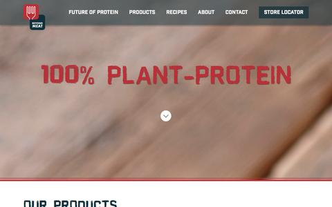Screenshot of Products Page beyondmeat.com - Products | Beyond Meat - The Future of Protein� - captured Jan. 17, 2016