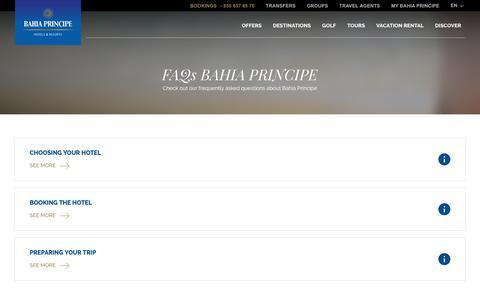Screenshot of FAQ Page bahia-principe.com - Bahia Principe - captured Dec. 13, 2018