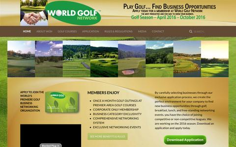 Screenshot of Home Page worldgolfnetwork.com - World Golf Network's Northern New Jersey Chapter - captured Jan. 11, 2016