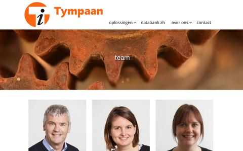 Screenshot of Team Page tympaan.nl - | Tympaan - captured Oct. 19, 2018