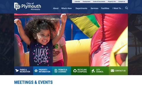 Screenshot of Home Page plymouthmn.gov - City of Plymouth, MN : Home - captured Oct. 28, 2016