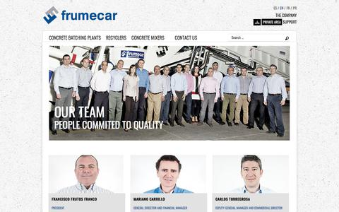 Screenshot of Team Page frumecar.com - Our Team: Know more about Frumecar's personnel - captured Jan. 9, 2018