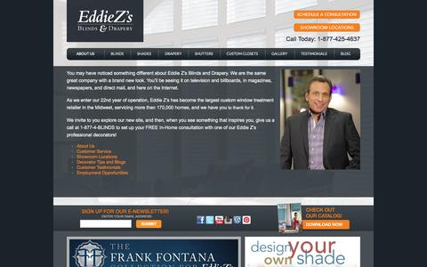 Screenshot of About Page eddiezs.com - Our Company - captured Oct. 2, 2014