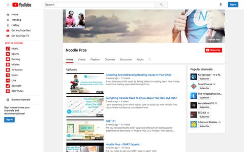 Noodle Pros  - YouTube
