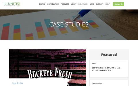 Screenshot of Case Studies Page illumitex.com - Case Studies Archives - Illumitex - captured Jan. 15, 2019