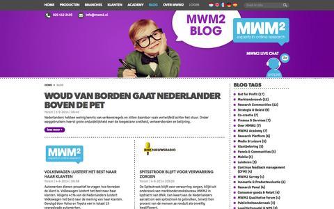Screenshot of Blog mwm2.nl - MWM2 - Blog - captured Sept. 24, 2014