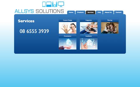 Screenshot of Services Page allsys.com.au - Services   Allsys Solutions - captured Oct. 4, 2014