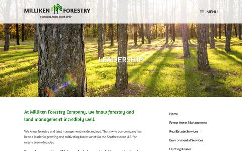 Screenshot of Team Page millikenforestry.com - We know forestry and land management - captured Dec. 6, 2016