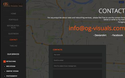Screenshot of Contact Page og-visuals.com - OG Visuals - Contact - captured Sept. 30, 2014