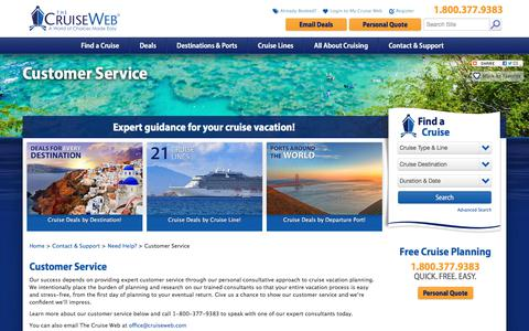 Screenshot of Support Page cruiseweb.com - Search Best Cruise Deals | The Cruise Web - captured Oct. 14, 2017