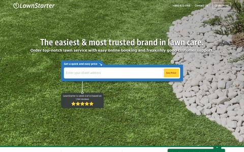 Screenshot of Home Page lawnstarter.com - Lawn Care Service Near You | Lawn Mowing | LawnStarter - captured April 17, 2017