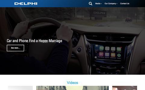 Screenshot of Press Page delphi.com - Media - captured April 19, 2017