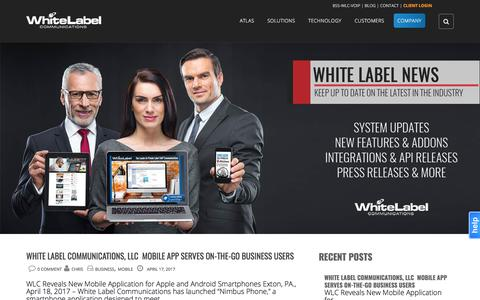 Screenshot of Press Page whitelabelcomm.com - News - White Label Communications - captured Aug. 20, 2017