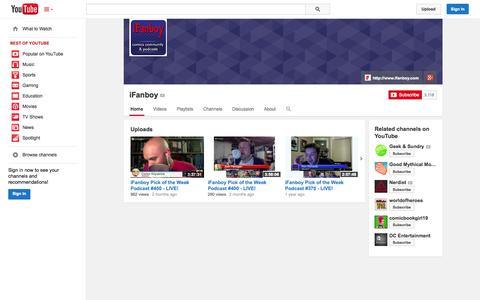 Screenshot of YouTube Page youtube.com - iFanboy  - YouTube - captured Nov. 3, 2014