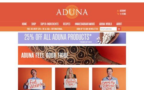 Screenshot of Team Page aduna.com - Aduna Feel Good Tribe – Aduna - captured Feb. 22, 2016