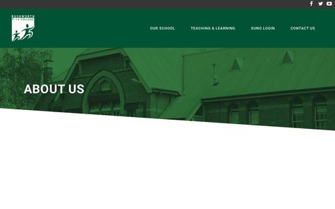 Screenshot of About Page rushworthp-12.vic.edu.au - Rushworth P-12 College |   ABOUT US - captured Jan. 13, 2017