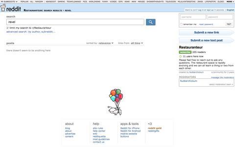 Restauranteur: search results - revel