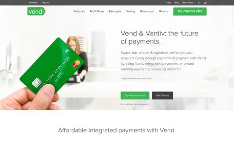 Vantiv and Vend POS | Vend