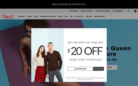 Screenshot of Home Page c21stores.com - Shop Men's and Women's Clothing & Accessories | Century 21 - captured April 14, 2019