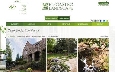 Screenshot of Case Studies Page edcastro.com - Case Study: Eco Manor - - captured Jan. 26, 2016