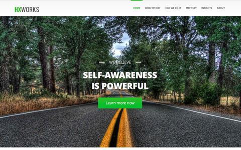 Screenshot of Home Page hxworks.com - HX Works | Human Enhancement AI - captured Jan. 13, 2016
