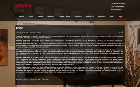 Screenshot of Terms Page venona.in - Venona - Legal - captured Sept. 30, 2015