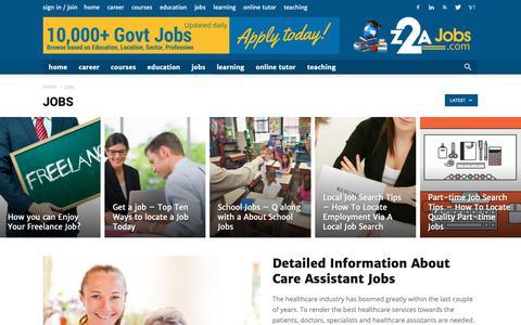Screenshot of Jobs Page z2ajobs.com - Jobs | Z2A Jobs - captured Oct. 20, 2018