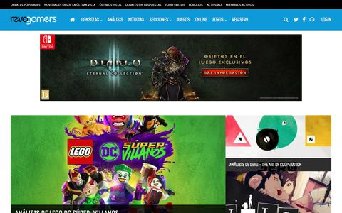 Screenshot of Home Page revogamers.net - Revogamers.net - Tu Comunidad sobre consolas Nintendo | Revogamers.net - captured Nov. 7, 2018