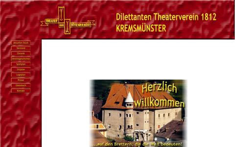 Screenshot of Home Page theaterverein-kremsmuenster.at - Dilettanten Theaterverein Kremsmünster - captured Sept. 30, 2015