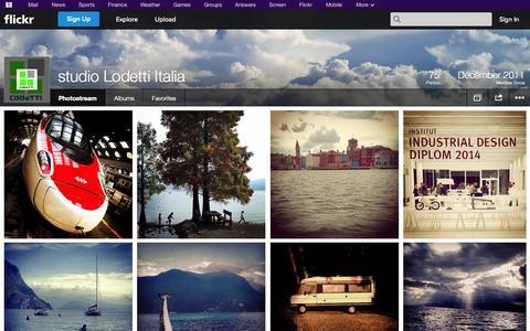 Screenshot of Flickr Page flickr.com - Flickr: studio Lodetti Italia's Photostream - captured Oct. 25, 2014