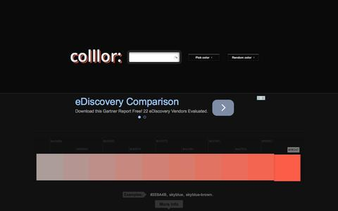 Screenshot of About Page colllor.com - Color Palette Generator - Colllor - captured Oct. 30, 2014
