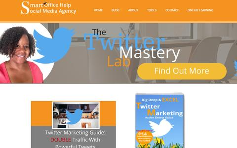 Screenshot of Home Page smartofficehelp.com - Social Media Specialist Company | Smart Office Help Social Media Management - captured Sept. 4, 2015