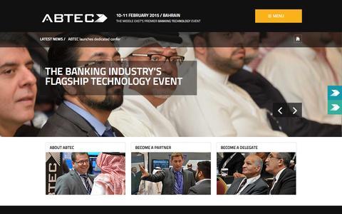 Screenshot of Home Page abteclive.com - ABTEC - ABTEC Home - captured Sept. 30, 2014