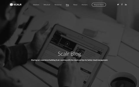 Screenshot of Blog scalr.com - Blog » Scalr - captured Jan. 30, 2018