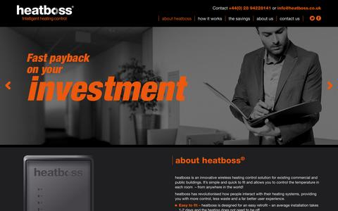 Screenshot of Home Page heatboss.co.uk - Heatboss | complete heat control - captured Dec. 15, 2015